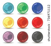 set of nature colored pearl....   Shutterstock .eps vector #736971112