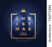 christmas sale banner or...   Shutterstock .eps vector #736971886