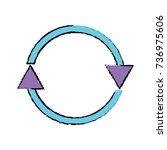 color arrows in circle symbol... | Shutterstock .eps vector #736975606