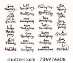 thanksgiving hand drawn... | Shutterstock .eps vector #736976608
