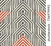 seamless hand drawn stripe... | Shutterstock .eps vector #736979992