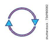 color arrows in circle symbol... | Shutterstock .eps vector #736980082