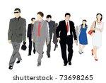 vector illustration of crowd | Shutterstock .eps vector #73698265