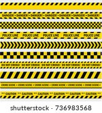 black and yellow stripes.... | Shutterstock .eps vector #736983568