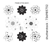atom model collection.... | Shutterstock .eps vector #736985752