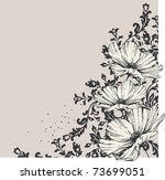 floral background with blooming ... | Shutterstock .eps vector #73699051