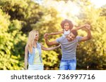 picture of happy young couple... | Shutterstock . vector #736997716