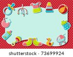 illustration of set of item... | Shutterstock .eps vector #73699924