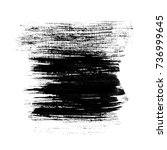 ink texture. black paint. ink... | Shutterstock . vector #736999645