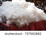 image of cotton in market | Shutterstock . vector #737002882