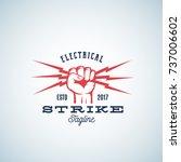 electrical strike power... | Shutterstock . vector #737006602