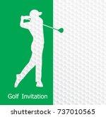 golf tournament invitation... | Shutterstock .eps vector #737010565