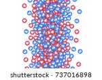 vector 3d social network like... | Shutterstock .eps vector #737016898