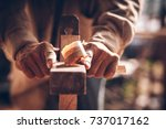 the carpenters are using... | Shutterstock . vector #737017162