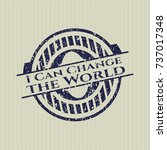 blue i can change the world... | Shutterstock .eps vector #737017348