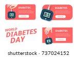 diabete diagnostic logo. world... | Shutterstock .eps vector #737024152