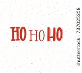 christmas card design with... | Shutterstock .eps vector #737025358