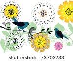 pretty birds | Shutterstock .eps vector #73703233