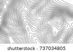 topographic map contour... | Shutterstock .eps vector #737034805