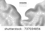 topographic map contour... | Shutterstock .eps vector #737034856