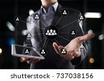 people organisation structure.... | Shutterstock . vector #737038156