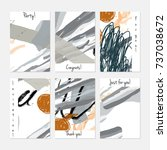 hand drawn creative universal...   Shutterstock .eps vector #737038672