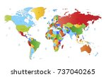 color world map | Shutterstock .eps vector #737040265