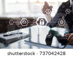 cyber security  data protection ... | Shutterstock . vector #737042428