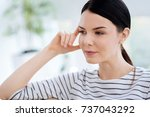 portrait of a serious... | Shutterstock . vector #737043292