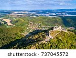 aerial view of cachtice castle... | Shutterstock . vector #737045572
