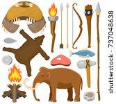 stone age aboriginal primeval... | Shutterstock .eps vector #737048638