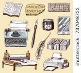 book printing typography... | Shutterstock .eps vector #737048722