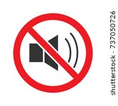 forbidden sign with loudspeaker ... | Shutterstock .eps vector #737050726