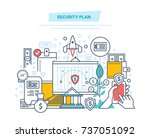 security plan. safe storage of... | Shutterstock .eps vector #737051092