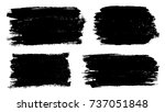 grunge paint stains set. ink... | Shutterstock .eps vector #737051848