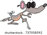 cartoon blind mouse wearing... | Shutterstock .eps vector #737058592