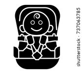 baby car security chair icon ... | Shutterstock .eps vector #737063785