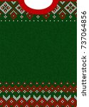 ugly sweater merry christmas... | Shutterstock . vector #737064856
