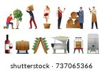 wine production gradient set... | Shutterstock .eps vector #737065366