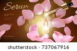 3d realistic flower natural... | Shutterstock .eps vector #737067916