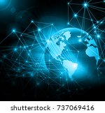 best internet concept of global ... | Shutterstock . vector #737069416
