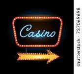 retro banner casino vintage... | Shutterstock .eps vector #737069698