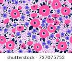 trendy seamless vector floral... | Shutterstock .eps vector #737075752