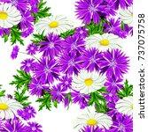 vector seamless flower pattern...   Shutterstock .eps vector #737075758