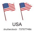 high detailed vector flag of... | Shutterstock .eps vector #737077486