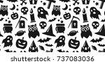 happy halloween. vector... | Shutterstock .eps vector #737083036