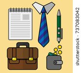 a set of objects for business ... | Shutterstock .eps vector #737083042