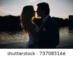 love story of the beautiful... | Shutterstock . vector #737085166