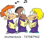 cartoon children's choir | Shutterstock .eps vector #737087962