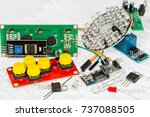 arduino components and... | Shutterstock . vector #737088505